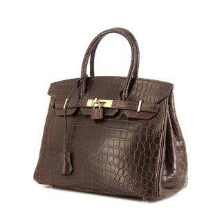 2af9d608e87 You re viewing  Best Replica Hermes Birkin 30 cm handbag in brown Cacao  alligator £44