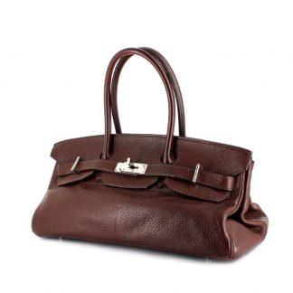 8a7b68f94165 High Quality Replica Hermes Birkin Shoulder handbag in brown togo leather