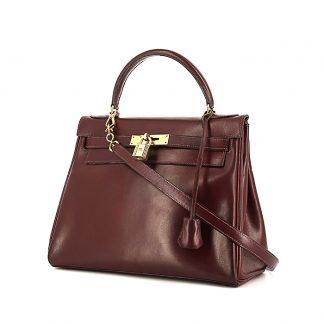 743c5f8231c4 High Quality Replica Hermes Kelly 28 cm handbag in burgundy box leather