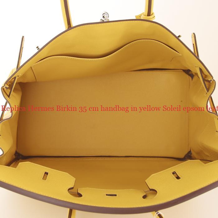 d298ea22dc2 UK Replica Hermes Birkin 35 cm handbag in yellow Soleil epsom leather