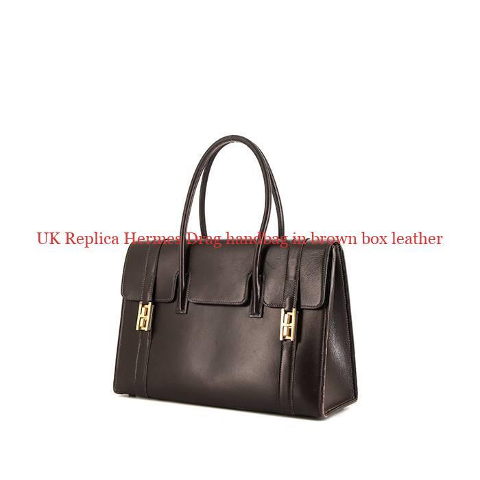 498c423a069b UK Replica Hermes Drag handbag in brown box leather – Hermes Replica ...
