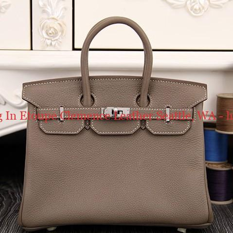 301b24c736fc Real Hermes Birkin 30cm 35cm Bag In Etoupe Clemence Leather Seattle ...